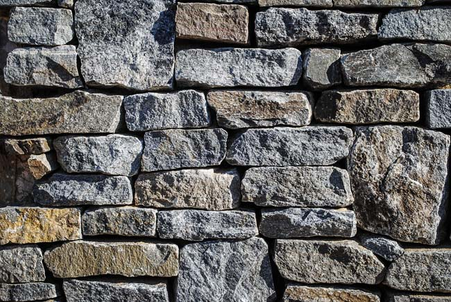 Types Of Natural Stone : Commercial natural stone walls retaining