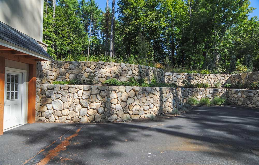Residential Natural Stone : Residential barn fieldstone walls custom built natural