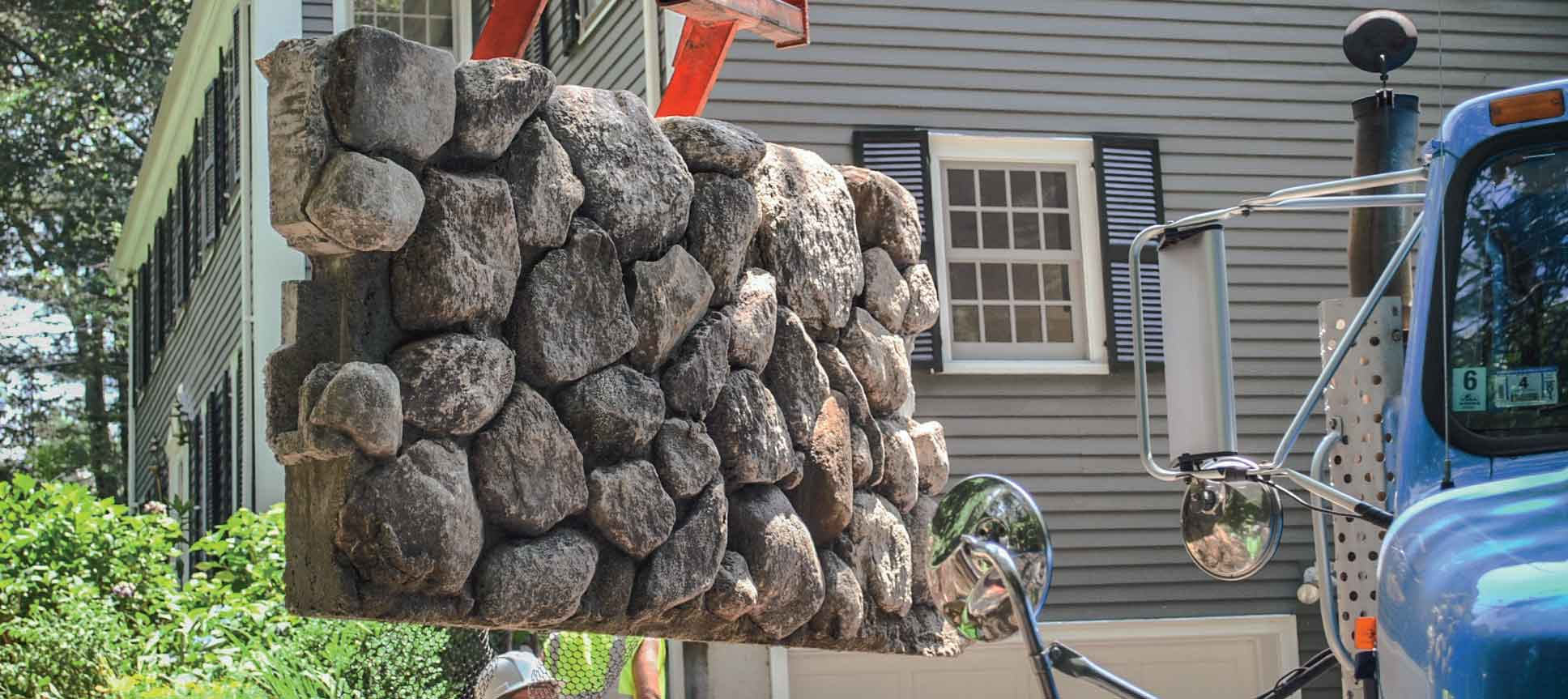 Custom Built Natural Stone Walls
