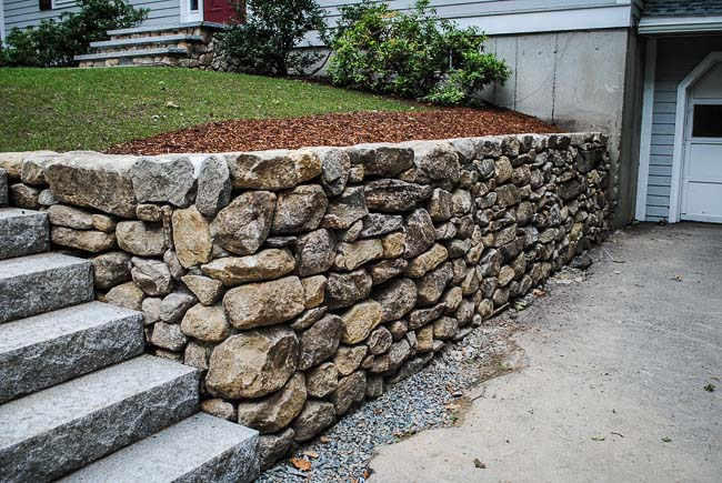 Stacked Stone Wall Custom Built Natural Stone Walls
